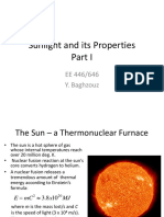 Properties of Sunlight - Part I