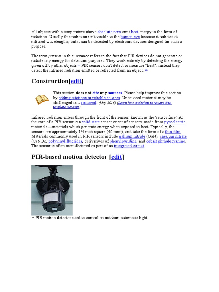 Pir Detectors Natural Philosophy Atomic Motion Sensors Circuit Using Integrated Pyroelectric