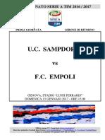 2016-17 Sampdoria Empoli