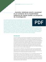 Television Telefonia Movil y Juventud en El Contexto de La Modernidad