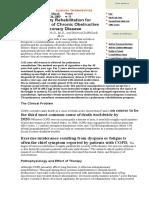 Pulmonary Rehabilitation for Management of Chronic Obstructive Pulmonary Disease