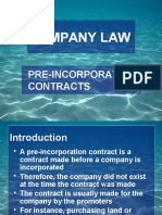 Pre Incorporation Contract