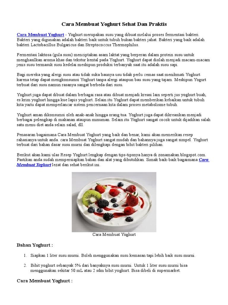 Cara Membuat Yoghurt Tempe Dan Keju Sendiri