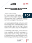 Intervención Inicial de JAVIER FERNÁNDEZ en El Comité Federal