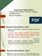 IR Between Two World Wars
