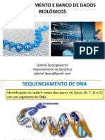 Aula 13 - Sequenciamento de DNA