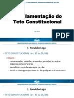 Regulamentação do Teto (MPDG)