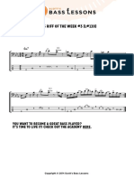 Bass Riff of the Week 3 Tab and Notationss