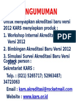 Pengumuman Akreditasi Baru 2012
