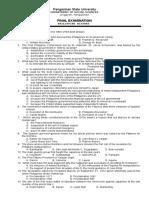 Atz Final Exam Phil Hist 1st Sem 09-10