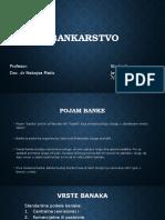 Pojam Banke Bankarstvo JS