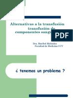 Alternativas Transfusión