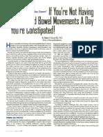 Three Good Bowel Movements