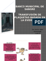 Transfusion de Plaquetas