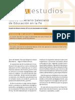 Nuevo Iter Salesiano Educar Fe