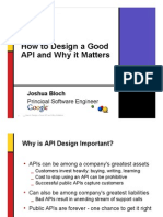 How to Design a Good API and Why it Matters