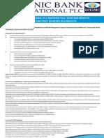 Oceanic Bank International PLC - Analyst Handout - FY 2008 Restatement, FY 2009, Q1 2010 Results