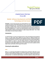 Mobile Software Development and Mobile Porting