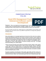IPR Protection for Outsourced Software Development