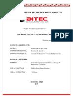 INFORME DE PRACTICA  PRE-PROFESIONALES I