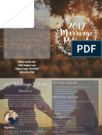 Marriage Retreat 2017 Brochure