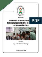El Proyecto Educativo
