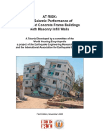 The Seismic Performance of Reinforced Concrete Frame Buildings With Masonary Infill Walls
