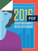 2016 Downtown Women's Needs Assessment