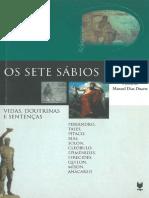 Os Sete Sabios. Vida, Doutrinas e Senteças - Manuel Dias Duarte