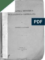 Hassen, Historia de La Lengua Castellan