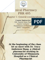 Clinical Pharmacy Intro Patient councelling
