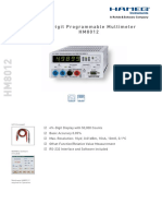 Data en HM8012 Hameg Multimeter