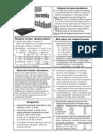 Molecular Formula calculation Handout
