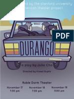 Durango Program Finalfinalfinal