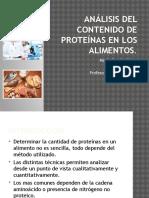Análisis Del Contenido de Proteínas en Los Alimentos