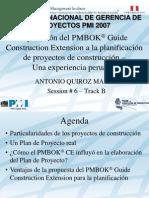 AQM PMI Peru Congreso 2007