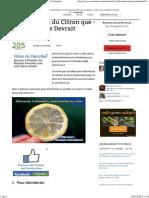 3 Utilisations Du Citron Que Tout Le Monde Devrait Connaître.