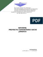 Infórme Proyecto Comunitario Socio Juridico