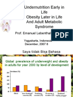 Undernutrition and Obesity
