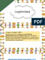 legitimidad en procesos de mecanismos de participacion