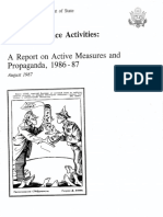 A Report on Active Measures and Propaganda