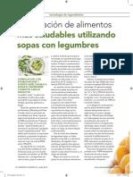 Formulación de Alimentos Mas Saludables Utilizando Sopas Con Legumbres