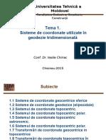 Sisteme de Coordonate  În Geodezie Tridimensională