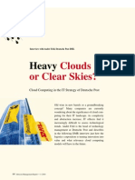 Heavy Clouds or Clear Skies? An Interview on Cloud Computing Strategy (Detecon Management Report)