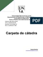 Carpeta de Catedra - Teoria y Practica de la Intervencion Didactica 2