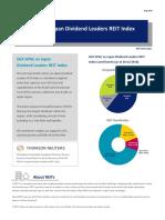 SGX APAC ex Japan Dividend Leaders REIT Index Factsheet
