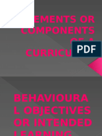 Elements or Components of a Curriculum.pptx44444444444444444