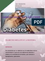 Diabetes Mellitus y Anestesia