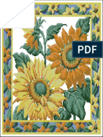 Free Cross Stitch Pattern PDF 092 Pilow Sunflowers