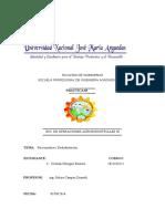 Informe III de Psicrometría y Deshidratación de Ingenieria